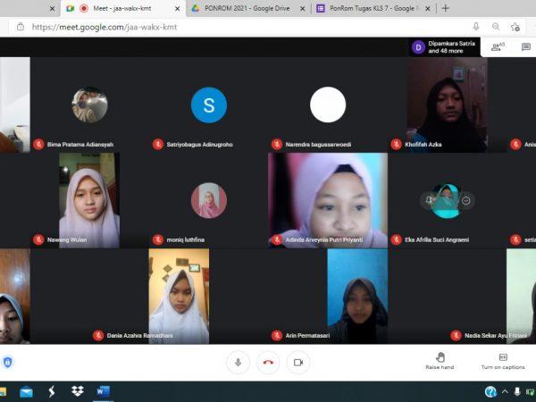 Antusiasme Siswa dalam Mengikuti Pondok Ramadhan Virtual di SMPN 6 Madiun